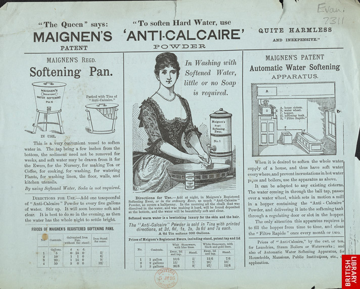 Advert For Maignen's Anti-Calcaire Water Softening Powder